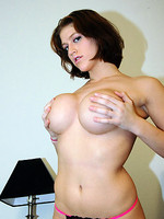 huge breasts eve shows off her hard knockers