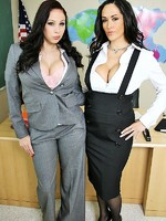 big titted teachers gianna michaels and carmella bing fucking student in class