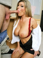 blonde teacher with huge tits getting her tight hole drilled hard
