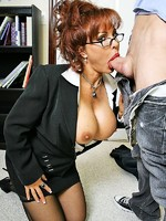 big titted horny teacher vanessa gets her pussy screwed at school